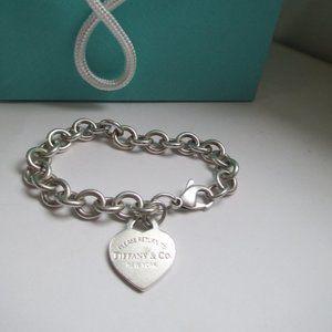 Tiffany & Co Sterling Silver heart bracelet